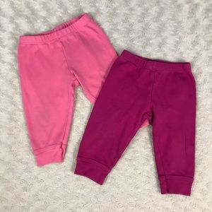 Primary Brand Baby Girl Pants Bundle 6-12 Months
